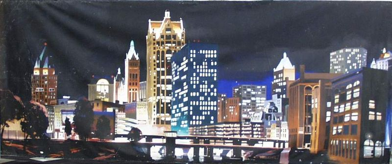 Mural Milwaukee Skyline